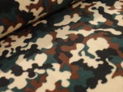 Antipill fleece - Kamoflage skogsgrön