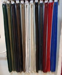 Delbar dragkedja i metall 70 cm 12 färger