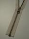 Delbar dragkedja i metall 80 cm 12 färger - Naturvit