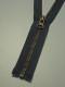 Delbar dragkedja i metall 80 cm 12 färger - Grå