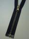 Delbar dragkedja i metall 80 cm 12 färger - Marinblå