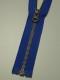 Delbar dragkedja i metall 80 cm 12 färger - Klarblå