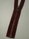 Delbar dragkedja i metall 80 cm 12 färger - Vinröd