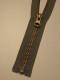Delbar dragkedja i metall 80 cm 12 färger - Olivgrön