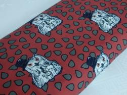 Trikå - Owl in a hat roströd Ökotex