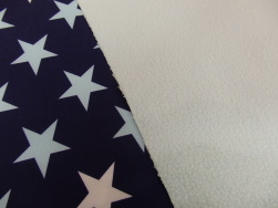 Nano softshell - Stjärna blå-ljusblå Ökotex