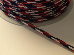 Flerfärgad annoracksnodd - Röd,vit och marinblå