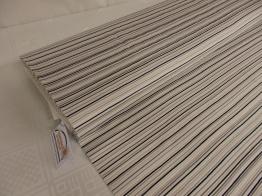 Bomullstrikå - Ränder i svart, grå och beige Ökotex