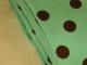 Finspårig babycord manchester Välj färg - Chokladbrun prick på mintgrön botten