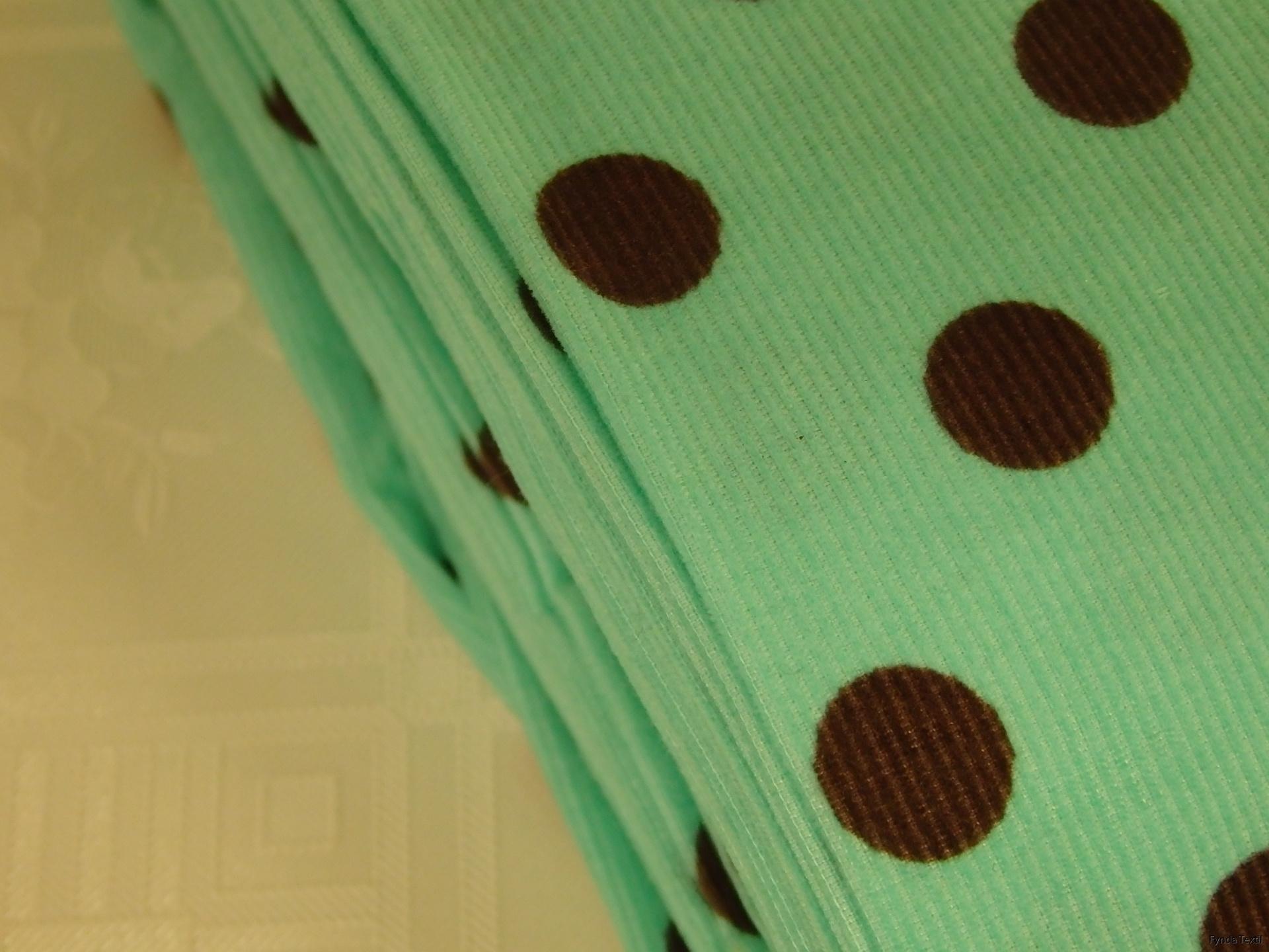 Chokladbrun prick på mintgrön botten