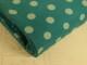 Finspårig babycord manchester Välj färg - Mintgrön prick på petrolgrön botten