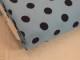 Finspårig babycord manchester Välj färg - Marinblå prick på ljusblå botten