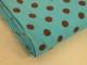 Finspårig babycord manchester Välj färg - Brun prick på turkos botten