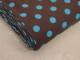 Finspårig babycord manchester Välj färg - Turkos prick på brun botten