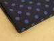 Finspårig babycord manchester Välj färg - Klarblå prick på marinblå botten