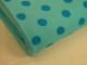 Finspårig babycord manchester Välj färg - Turkos prick på mintgrön botten