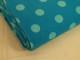 Finspårig babycord manchester Välj färg - Mintgrön prick på turkos botten
