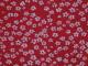 Vävt bomull - Mini blomma Välj färg Ökotex - Klarröd