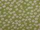 Vävt bomull - Mini blomma Välj färg Ökotex - Äppelgrön