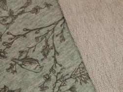 Stretchjogging öglad - Fåglar mintgrön Ökotex