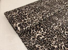 Viskostrikå - Leopard brun OekoTex