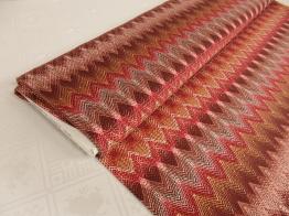 Viskostrikå - Zig-zag mönster Välj färg OekoTex - Kopparröd