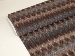 Viskostrikå - Zig-zag mönster Välj färg OekoTex - Brun