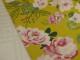 Vårnyhet! Viskostrikå - Vårblommor rosa OekoTex Välj färg - Limegrön