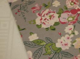 Vårnyhet! Viskostrikå - Vårblommor rosa Ökotex Välj färg - Grå