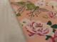 Vårnyhet! Viskostrikå - Vårblommor rosa OekoTex Välj färg - Aprikos