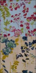 Vårnyhet! Viskostrikå - Vårblommor vit OekoTex Välj färg