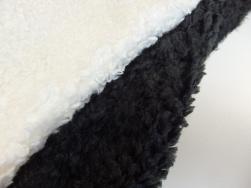Lyx teddy - Naturvit eller gråsvart