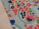Bomullstrikå - Flora (välj färg) Ökotex - Ljusblå