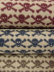 Inredningstyg vävt - Dödskallar (3 färger)