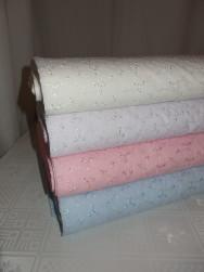 Broderat tyg för kläder, inredning mm (4 färger) Ökotex