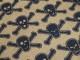 Inredningstyg - Dödskallar (3 färger) Polyester/bomull - Petrolblå