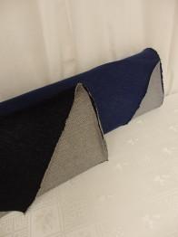 Dubbelsidig jeanstrikå - Jeansblå Ökotex