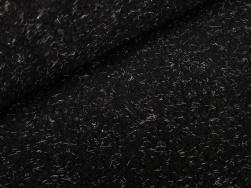 Svart teddypäls med grå stickhår
