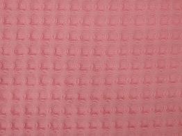 Dubbelsidigt våfflat bomullstyg 8 färger Ökotex - Rosa