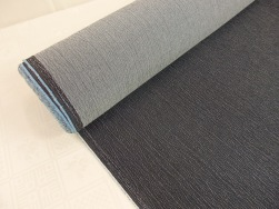 Jeanstyg med stretch, präglat mönster - Mörk jeansblå