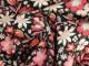 Finvävd viskos blommor Ökotex Välj färg - Rosa/röd stor blomma