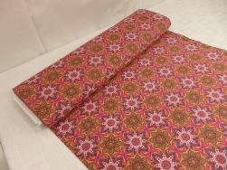 Bomullstrikå - Mandala Orange/rosa Ökotex