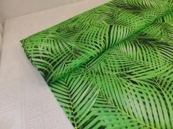 Digitaltryckt bomullstrikå - Ormbunke grön Ökotex