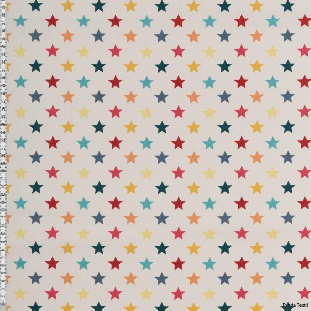 Stjärnor 2 cm naturvit