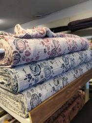 HÖSTNYHET! Vävt modetyg i ull, lin och bomullsblandning Ökotex