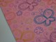 Bomullstrikå - Fjäril varm rosa Ökotex