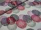 Viscosetrikå - Stora cirklar rosa/lila Ökotex