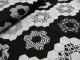Viskostrikå - Blommor och rober svart och gråmelerad Ökotex
