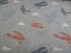 Stretchjogging med fleecebaksida - Flygplan eller prickar Ökotex - Blå/röd flygplan