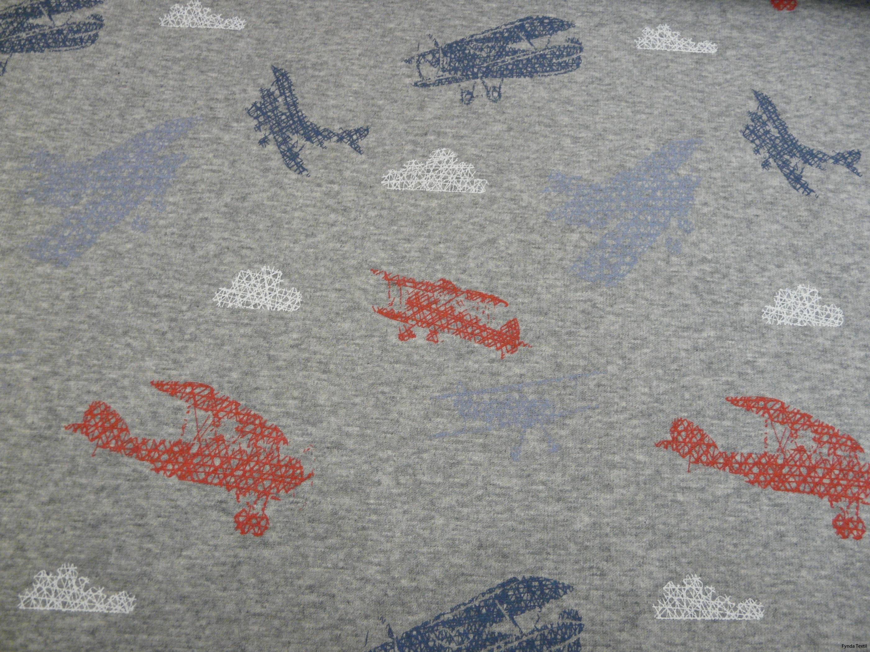 Flygplan röd/blå